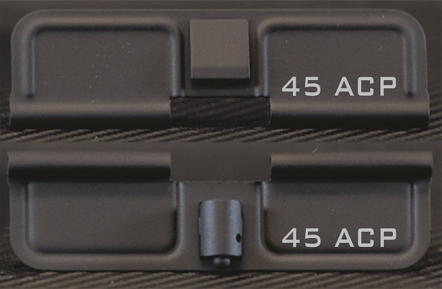 AR-15 45 ACP Minimal Dust Cover - Premium Laser Engraved Inside & Outside
