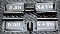 AR-15 5.56 NATO Dust Cover - Premium Laser Engraved Inside & Outside