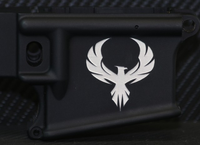 custom engraved ar15 deep engraved with custom eagle