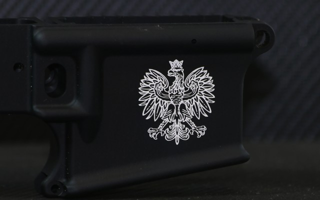 custom engraved ar15 engraved with eagle family crest