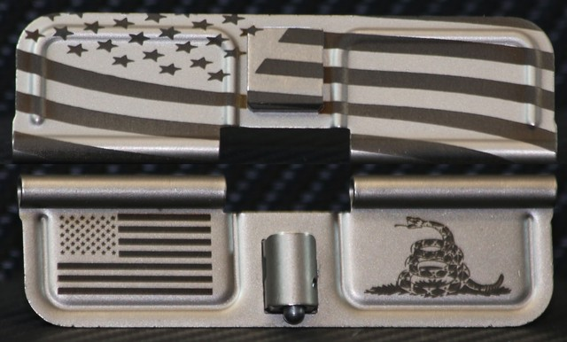NIB-x Nickel Boron AR-10 Custom Dust Cover - Premium Laser Engraved Inside & Outside