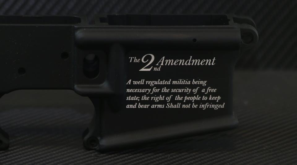 The Second Amendment Engraved AR15 Lower - Add your personal engravings