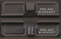 AR-15 300 AAC Blackout Minimal Dust Cover - Premium Laser Engraved Inside & Outside