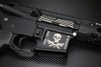 Custom deep engraved AR-15 lower receiver with 300 Blackout