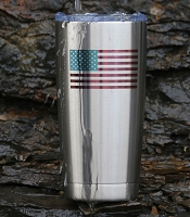 US Flag Stainless Steel Insulated Tumbler Personalized With Your Text or Name