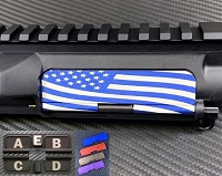 AR-15 Ultralight Anodized Aluminum Custom Dust Cover - Premium Laser Engraved Inside & Outside