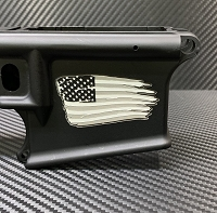 Enhanced Distressed Flag Deep Engraved AR15 Lower - Add your personal engravings