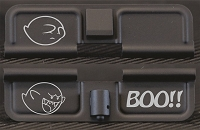 Ghost Boo!! Engraved AR10 Ejection Port Dust Cover - Premium Images Inside & Outside