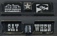 I'm Your Huckleberry Engraved AR10 Ejection Port Dust Cover - Premium Images Inside & Outside