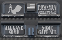 POW-MIA Tribute Engraved AR10 Ejection Port Dust Cover - Premium Images Inside & Outside
