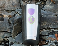 Purple Heart Ribbon Stainless Steel Insulated Tumbler Personalized With Your Text or Name