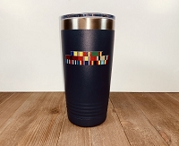 Military Service Ribbon Personalized Stainless Steel Insulated Tumbler