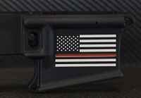 Thin Red Line Flag Custom Engraved AR-15 Receiver