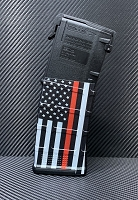 Thin Red Line Flag with Gloss