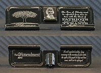 Tree of Liberty - 2nd Amendment engraved AR dust cover