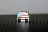 US Flag Laser Engraved Titanium Glock Slide Back Plate