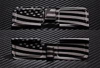 Wavy American Flag Full Panel Engraved AR10 Ejection Port Dust Cover - Premium Images Inside & Outside