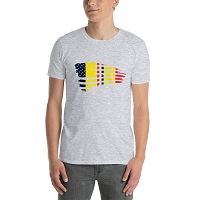 Combat Action Ribbon Waving Flag T-Shirt