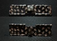 Crazy Punisher Engraved AR10 Ejection Port Dust Cover - Premium Images Inside & Outside