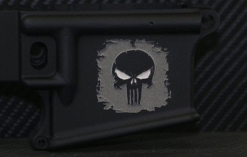 Enhanced Punisher Deep Engraved AR15 Lower - Add your personal engravings