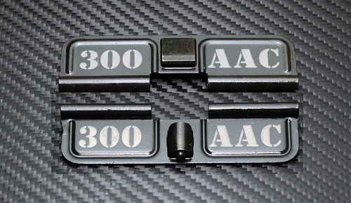 AR-15 300 AAC Blackout Dust Cover - Premium Laser Engraved Inside & Outside