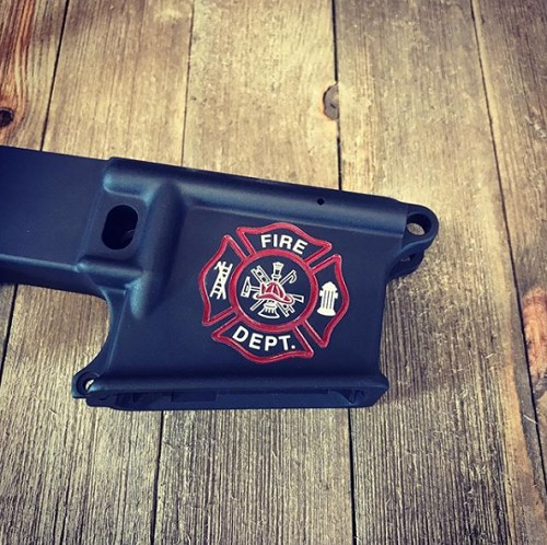 Maltese Cross Fire Department Engraved Lower Receiver