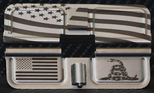 NIB-x Nickel Boron AR-15 Custom Dust Cover - Premium Laser Engraved Inside & Outside