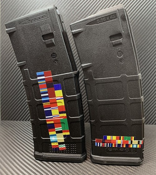 Military Service Personalized Ribbon Stack AR15 ColorMag Magazine