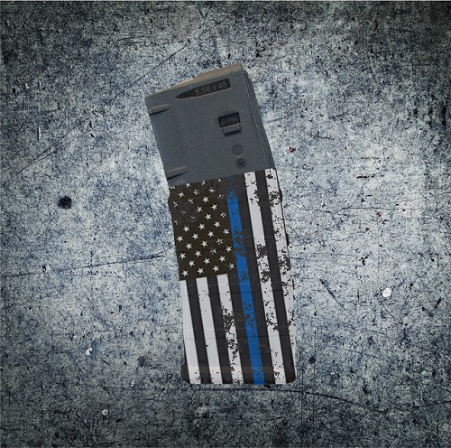 Thin Blue Line Flag AR15 ColorMag Magazine