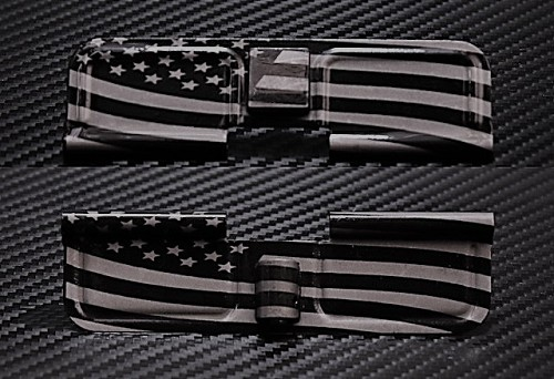 Wavy Flag engraved AR15 Ejection Port Dust Cover